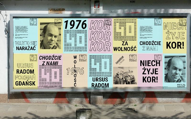 Plakaty 40 lat KOR