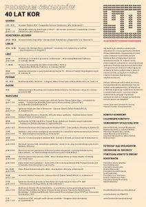 40 lat KOR - program do internetu