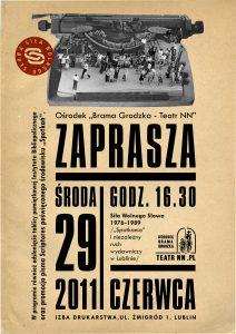 """Plakat wystawy """"Siła Wolnego Słowa 1976-1989"""""""